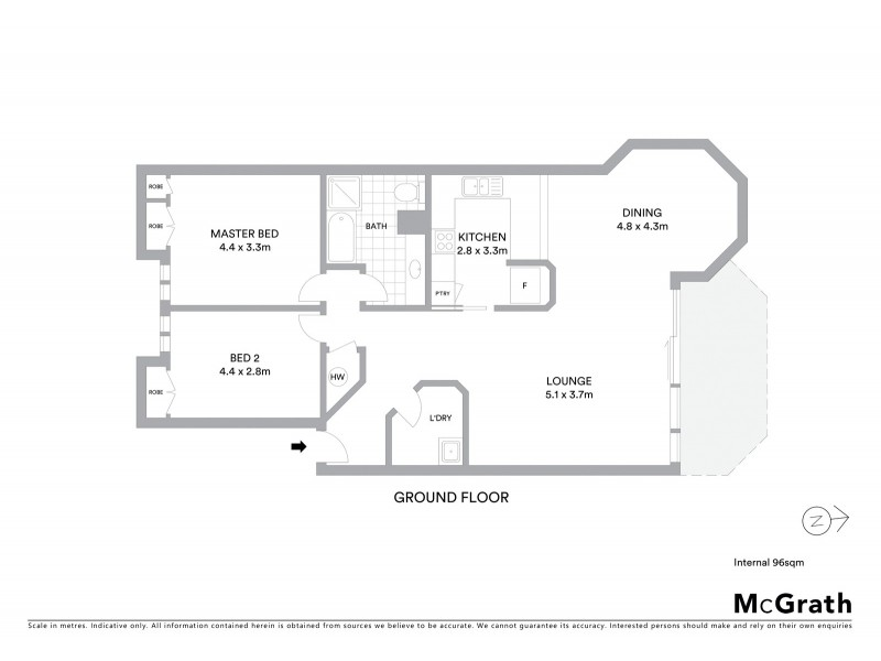 7/26 Macquarie Street, Barton ACT 2600 Floorplan