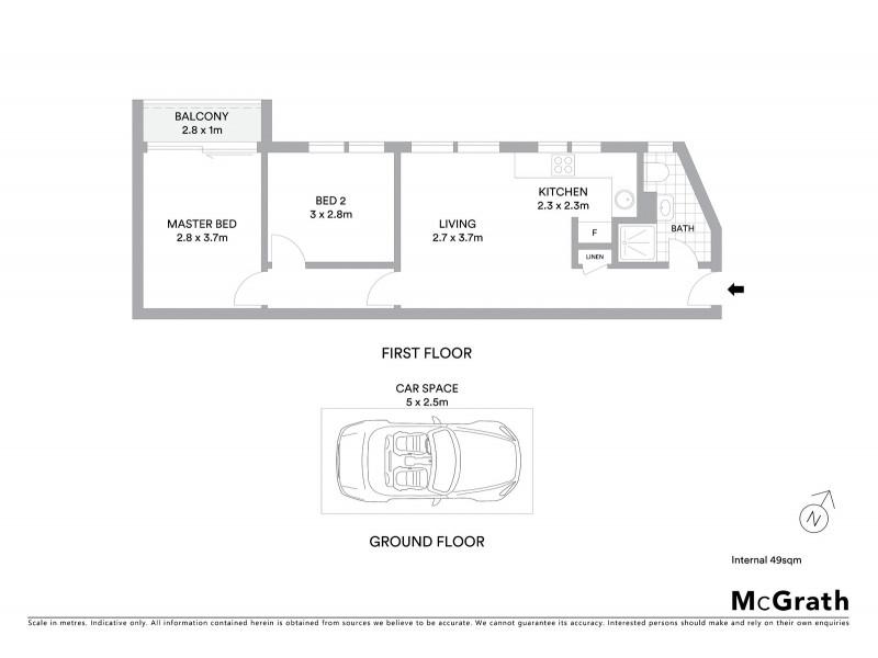 12A/60 Wattle Street, Lyneham ACT 2602 Floorplan