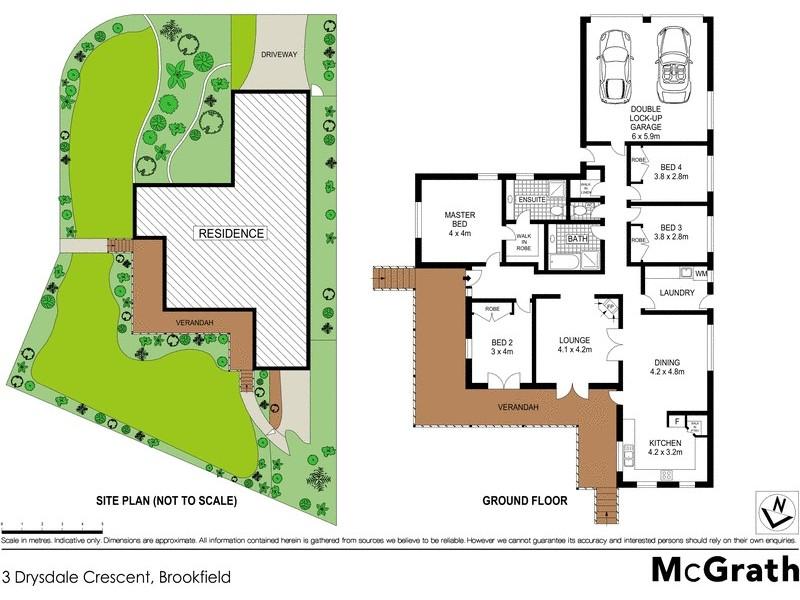 3 Drysdale Crescent, Brookfield QLD 4069 Floorplan