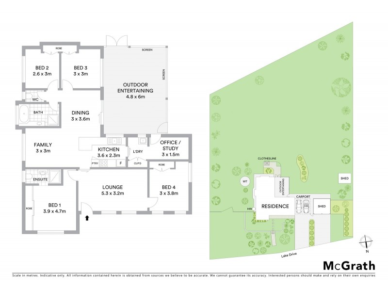 3 Lake Drive, Meringandan QLD 4352 Floorplan