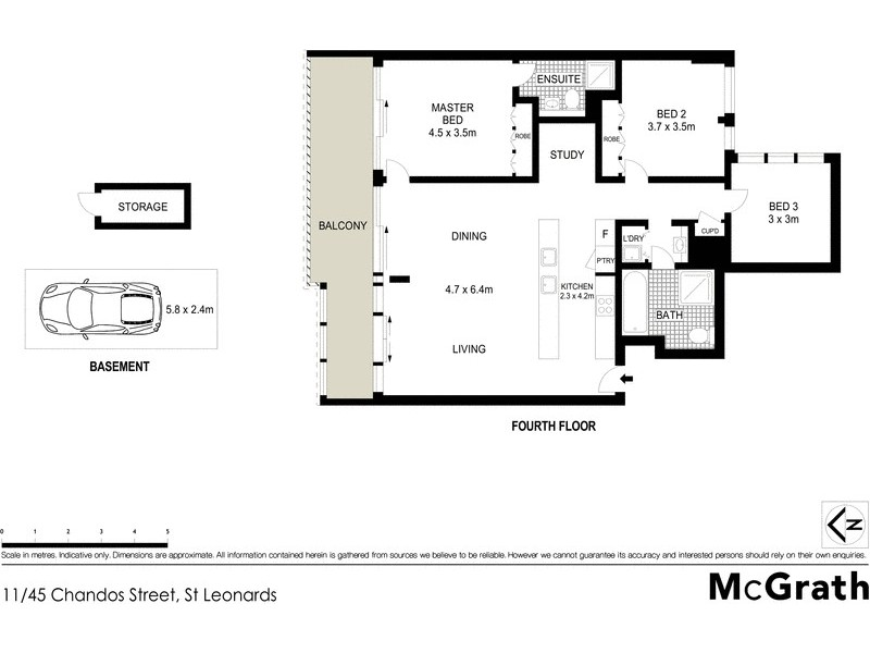 11/45 Chandos Street, St Leonards NSW 2065 Floorplan