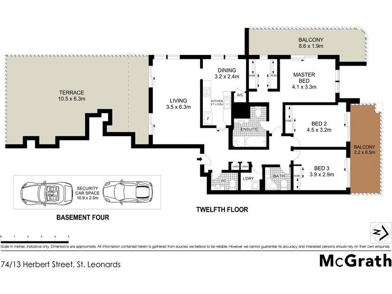 74/13 Herbert Street, St Leonards NSW 2065 Floorplan