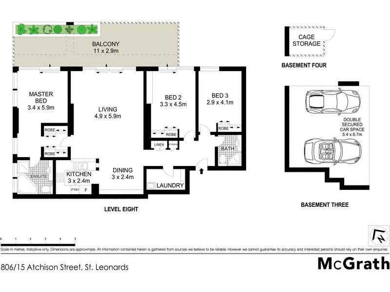 806/15 Atchison Street, St Leonards NSW 2065 Floorplan