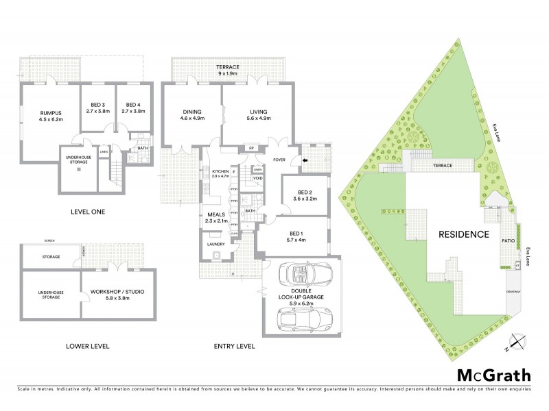 3 Eva Lane, Northwood NSW 2066 Floorplan