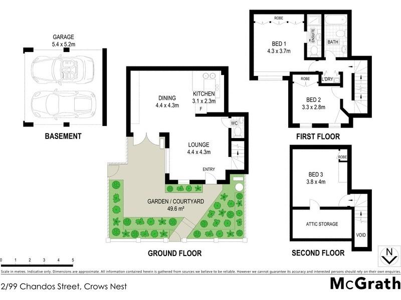 2 99 Chandos Street Crows Nest NSW 2065 Floorplan