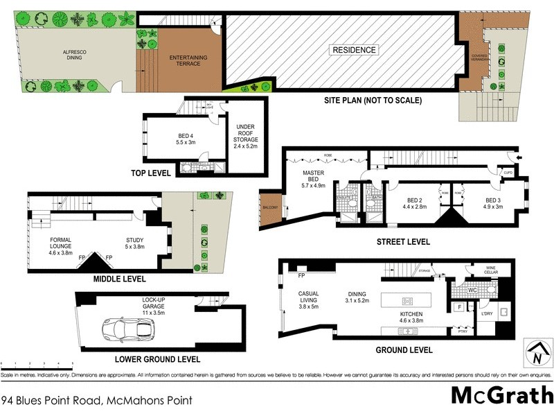 94 Blues Point Road, Mcmahons Point NSW 2060 Floorplan