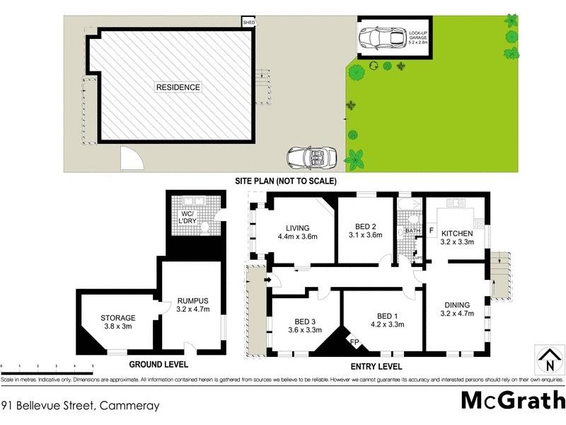 91 Bellevue Street, Cammeray NSW 2062 Floorplan