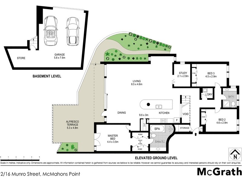 2/16 Munro Street, Mcmahons Point NSW 2060 Floorplan