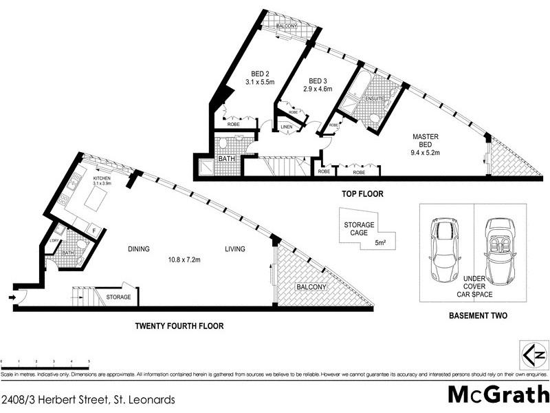 2408/3 Herbert Street, St Leonards NSW 2065 Floorplan