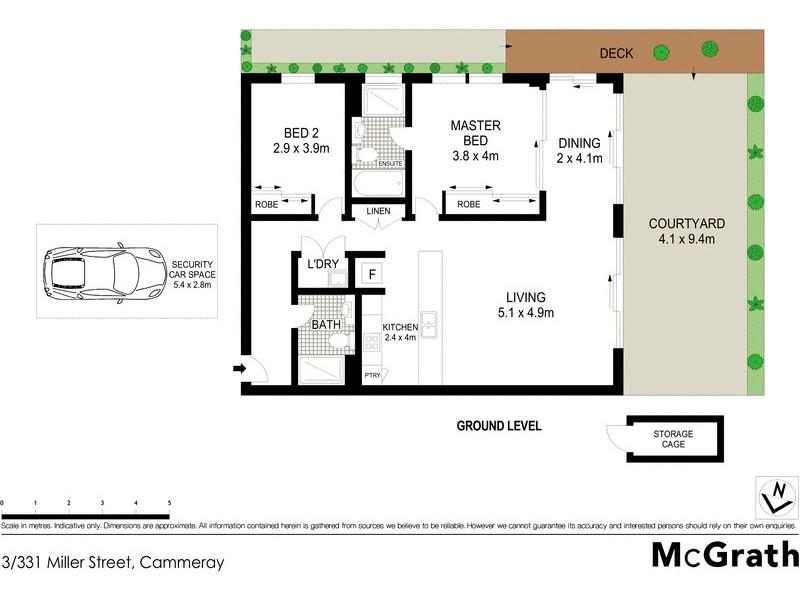 3/331 Miller Street, Cammeray NSW 2062 Floorplan