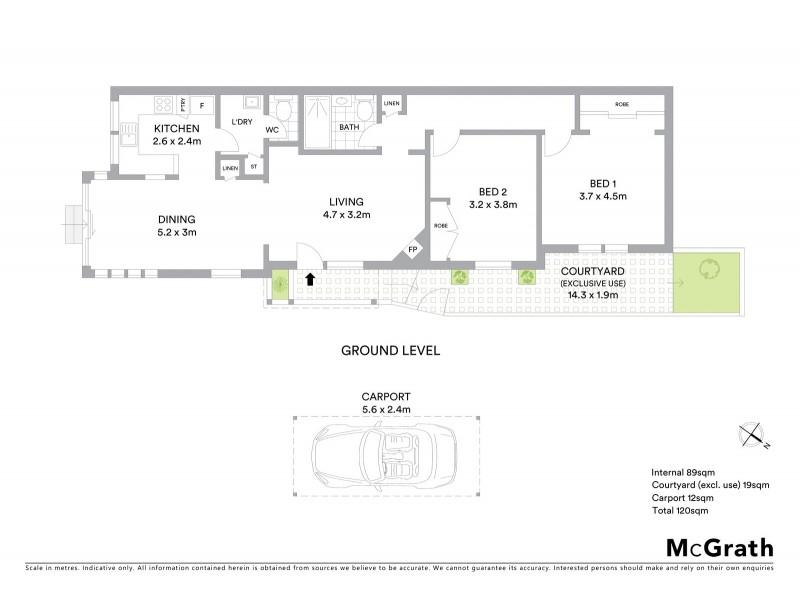 3/25 Aubin Street, Neutral Bay NSW 2089 Floorplan