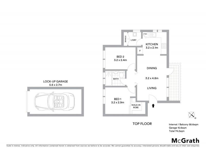 15/10 Blair Street, Gladesville NSW 2111 Floorplan