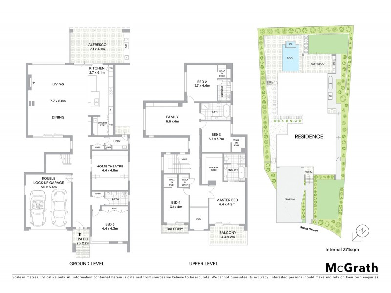 4 Adam Street, Ryde NSW 2112 Floorplan