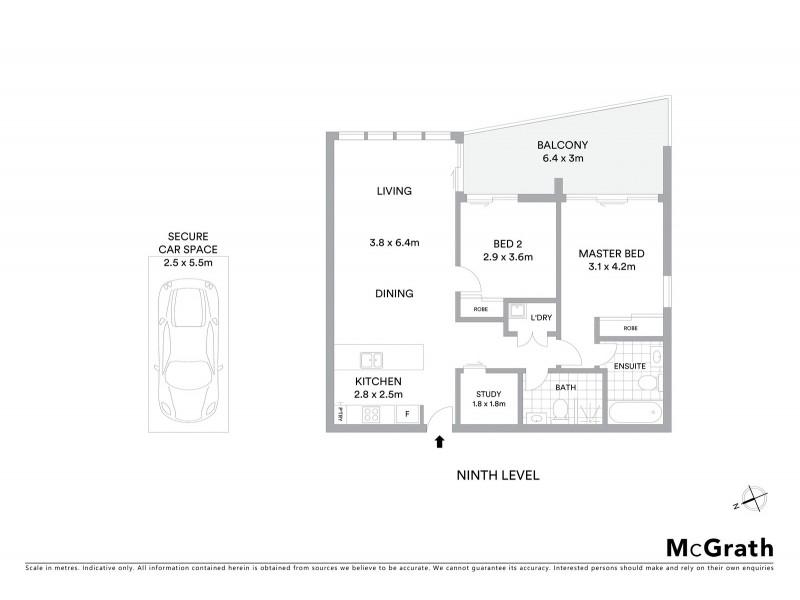 904/1 Foreshore Boulevarde, Woolooware NSW 2230 Floorplan