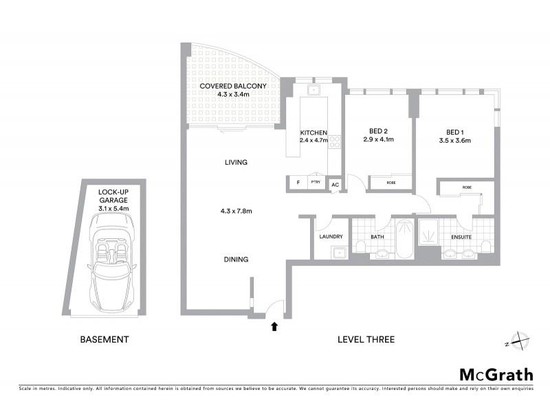 304/20 Gerrale Street, Cronulla NSW 2230 Floorplan