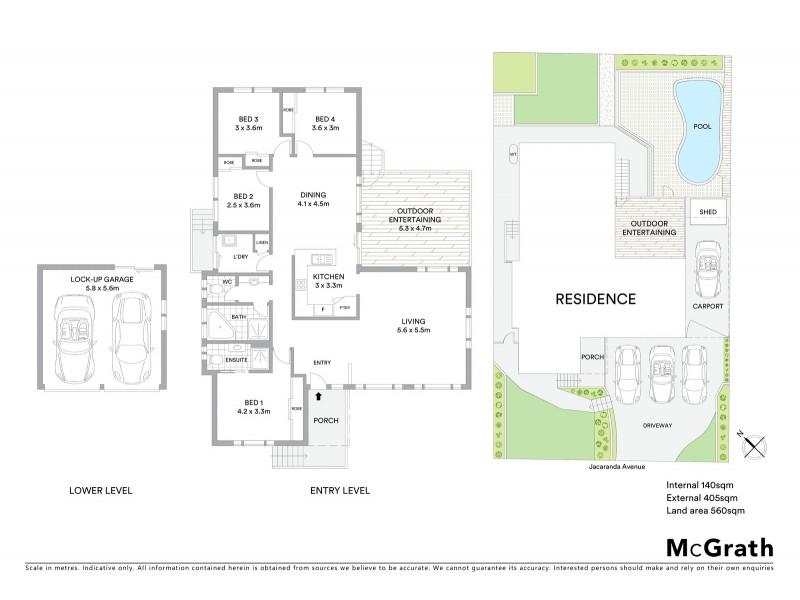 11 Jacaranda Avenue, Glenning Valley NSW 2261 Floorplan
