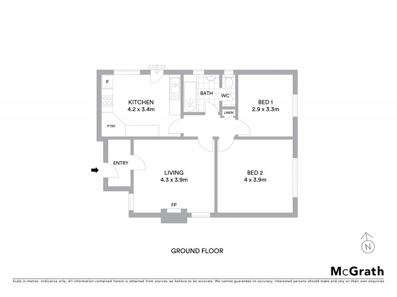 3/68 Westbury Street, St Kilda East VIC 3183 Floorplan
