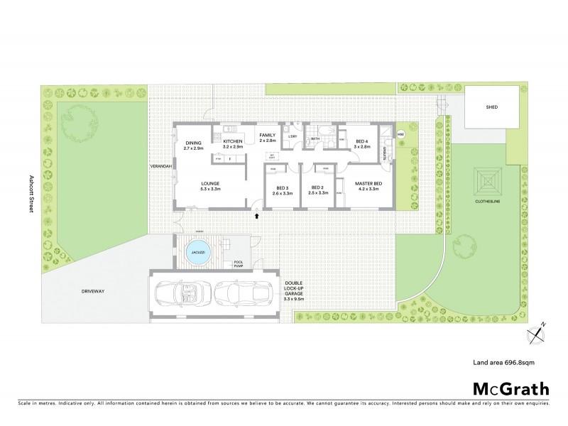 20 Ashcott Street, Kings Langley NSW 2147 Floorplan