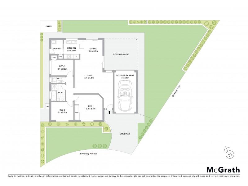 2 Binnaway Avenue, Hoxton Park NSW 2171 Floorplan