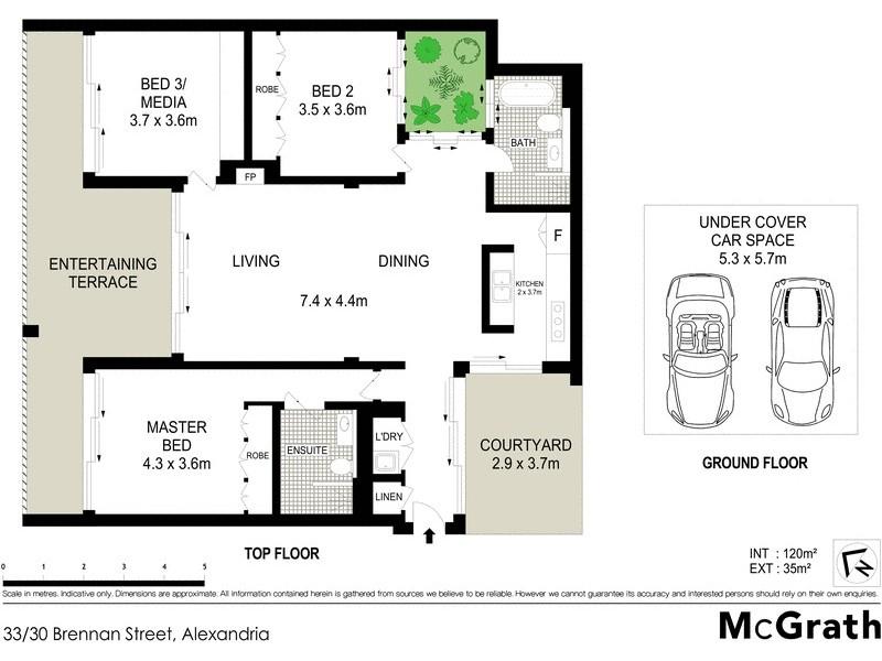33/30 Brennan Street, Alexandria NSW 2015 Floorplan