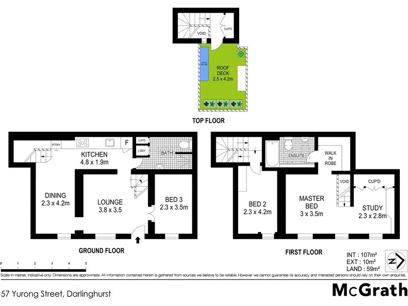 57 Yurong Street, Darlinghurst NSW 2010 Floorplan