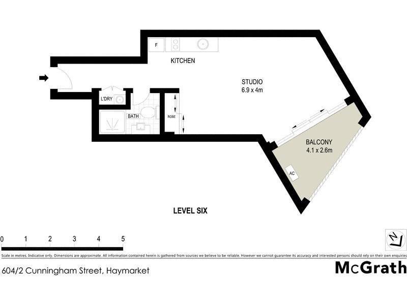 504/2 Cunningham Street, Haymarket NSW 2000 Floorplan
