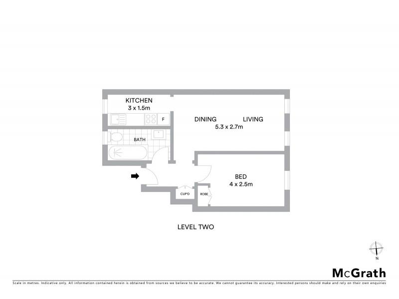 9/385 Liverpool Street, Darlinghurst NSW 2010 Floorplan