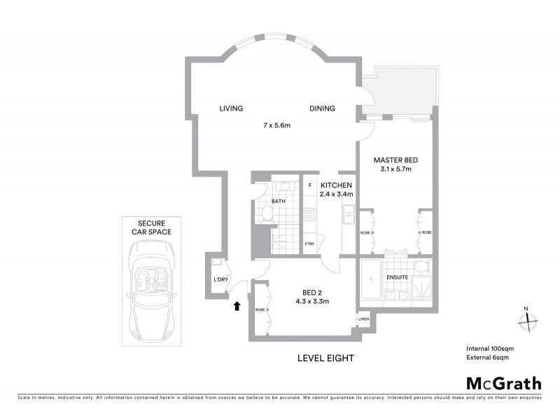801/9 Bayswater Road, Potts Point NSW 2011 Floorplan