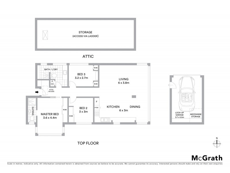 6/22 Glen Street, Bondi Beach NSW 2026 Floorplan