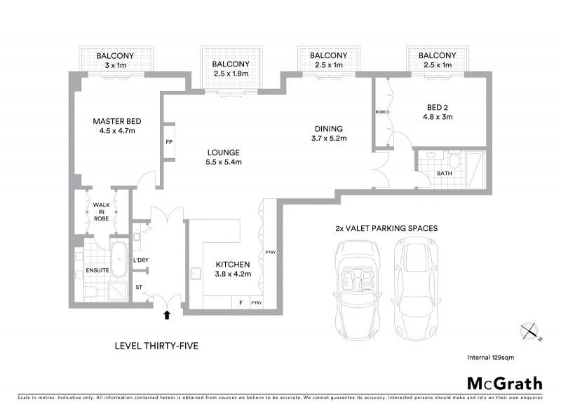 3505/68-70 Market Street, Sydney NSW 2000 Floorplan
