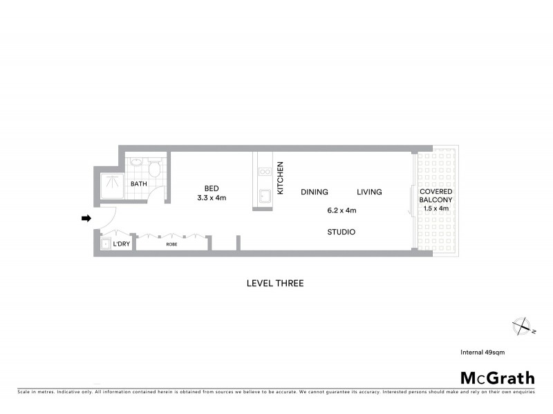 309/45 Shelley Street, Sydney NSW 2000 Floorplan