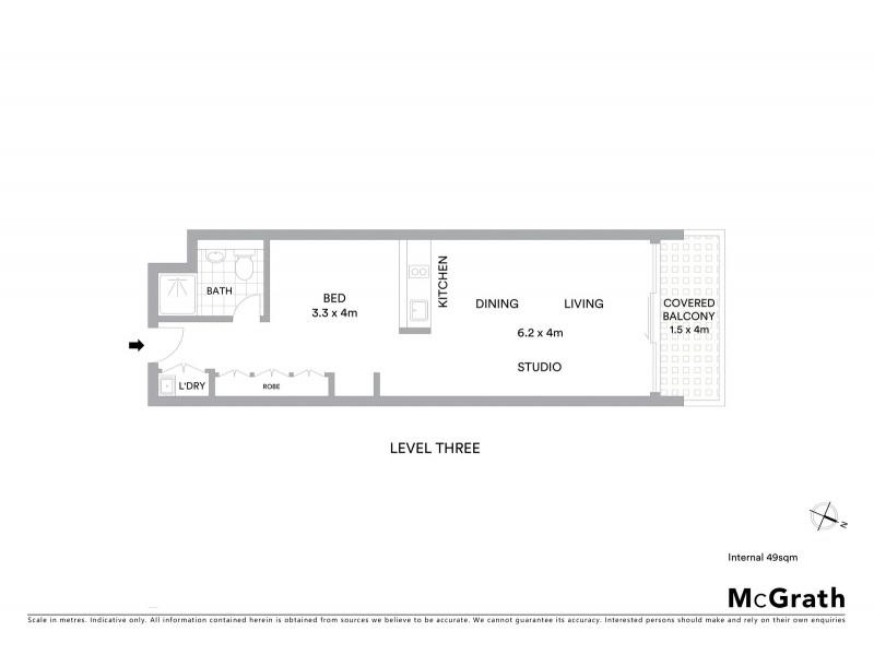 309/45 Shelley Street, Sydney NSW 2000 Floorplan