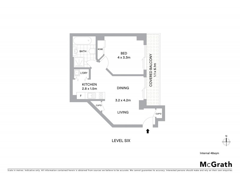 190/298-304 Sussex Street, Sydney NSW 2000 Floorplan