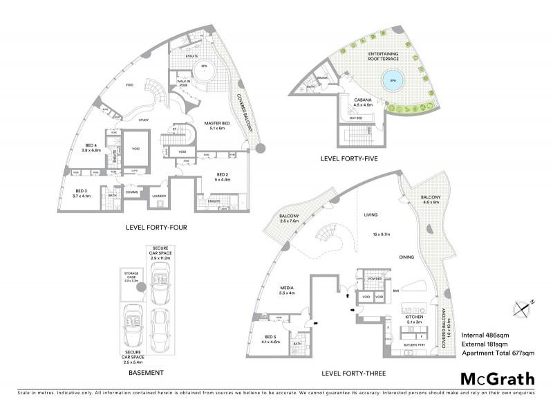 4301/129 Harrington Street, Sydney NSW 2000 Floorplan