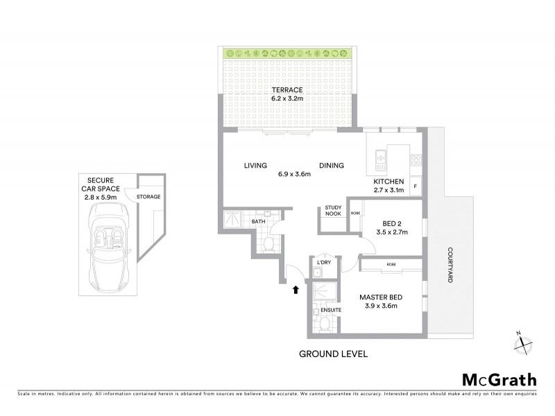 1/307 Simpson Street, Bondi Beach NSW 2026 Floorplan