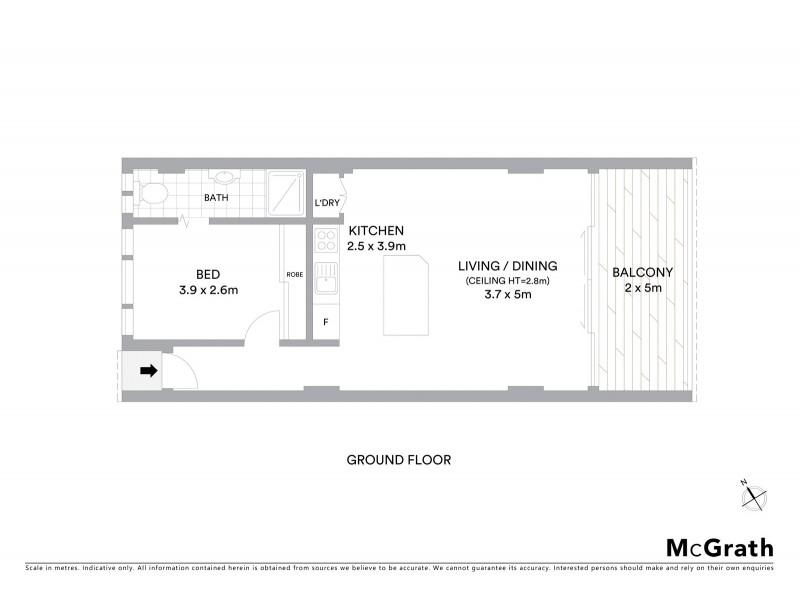 4/20 Illawong Avenue, Tamarama NSW 2026 Floorplan