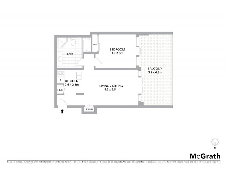 207/187 Kent Street, Sydney NSW 2000 Floorplan