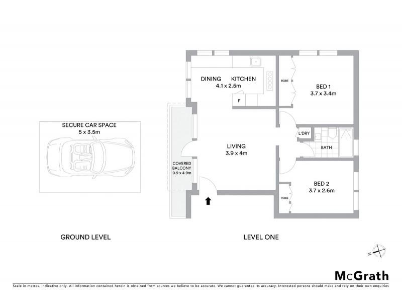 5/3 Dundas Street, Coogee NSW 2034 Floorplan