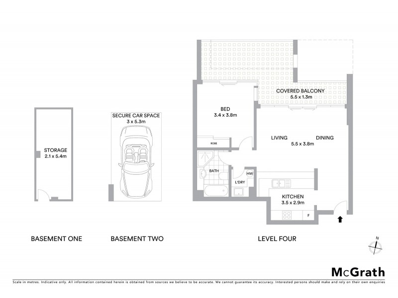 403/268 Oxford Street, Bondi Junction NSW 2022 Floorplan