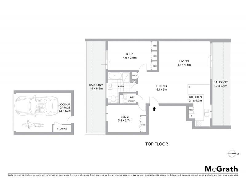 12/52 Penkivil Street, Bondi NSW 2026 Floorplan