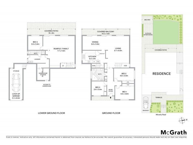 106 Moverly Road, South Coogee NSW 2034 Floorplan