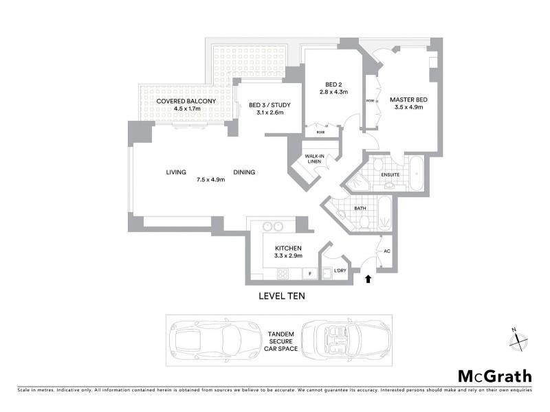1005/183 Kent Street, Sydney NSW 2000 Floorplan