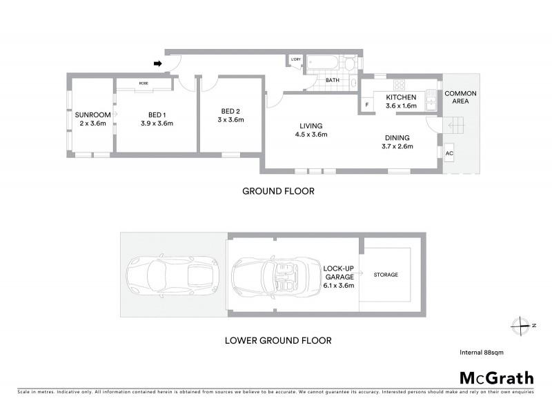 2/16 Ramsgate Avenue, Bondi Beach NSW 2026 Floorplan