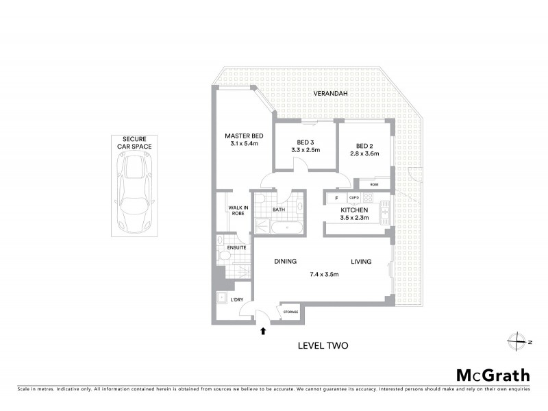 3/533 Kent Street, Sydney NSW 2000 Floorplan