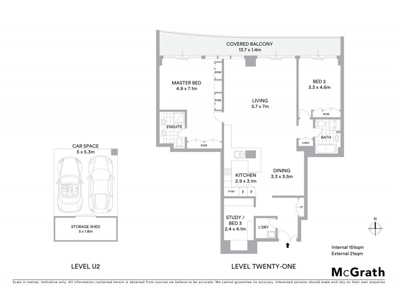 2102/168 Kent Street, Sydney NSW 2000 Floorplan