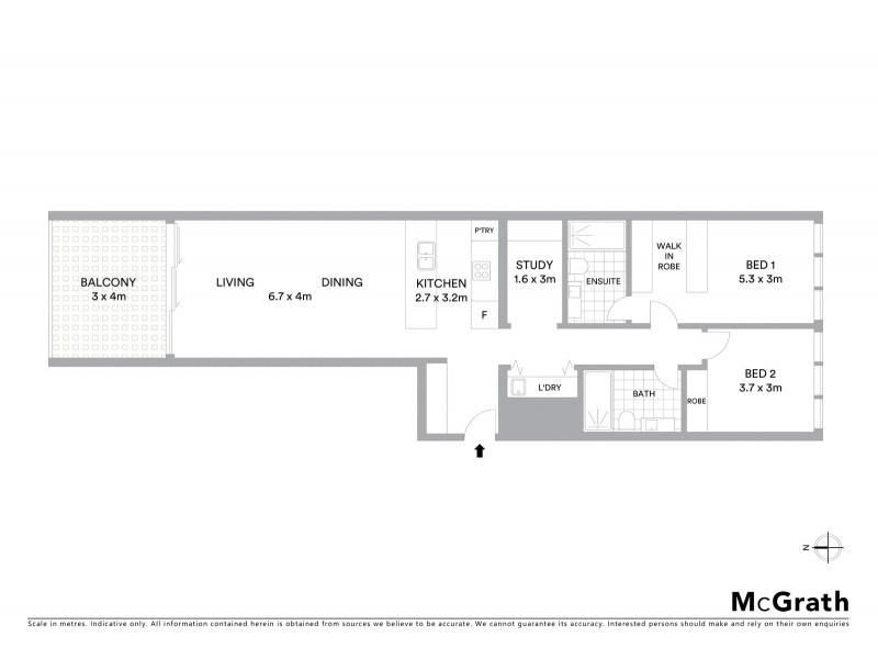 801/130 Elizabeth Street, Sydney NSW 2000 Floorplan