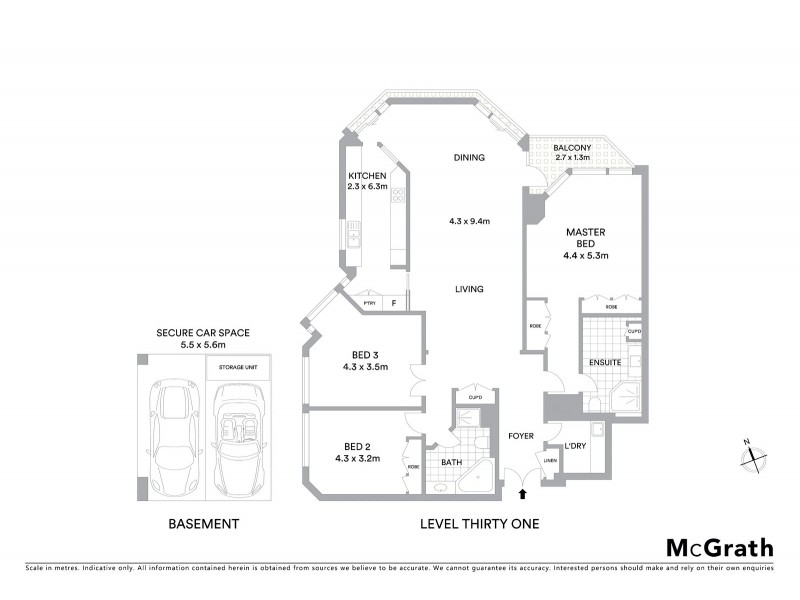3103/100 Gloucester Street, Sydney NSW 2000 Floorplan
