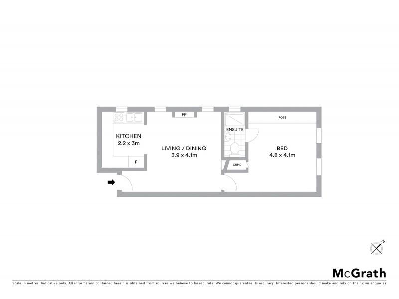 6/107 Ramsgate Avenue, Bondi Beach NSW 2026 Floorplan