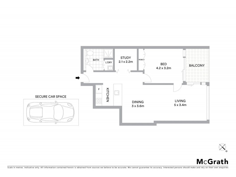 707/23 Shelley Street, Sydney NSW 2000 Floorplan
