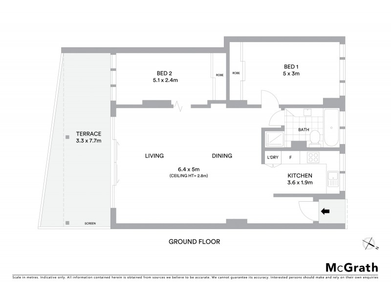 1/20 Illawong Avenue, Tamarama NSW 2026 Floorplan